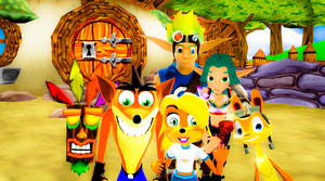 Crash and Jak and Daxter Picture Time MMD
