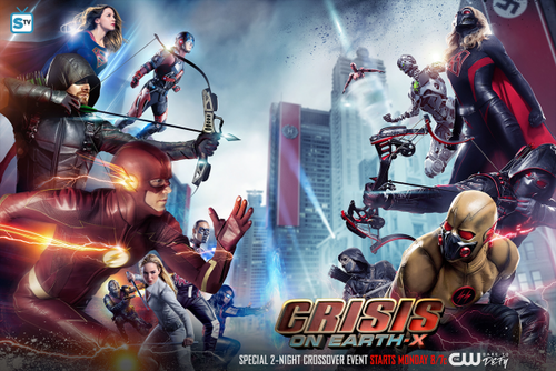 DC's Legends of Tomorrow fondo de pantalla entitled DCTV - Crisis on Earth-X - Crossover Poster