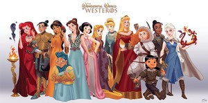 disney females x Game of Thrones