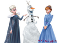 Elsa, Anna and Olaf - elsa-the-snow-queen photo