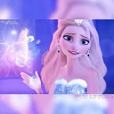 Modern disney Princess wallpaper entitled Elsa Snow Fairy