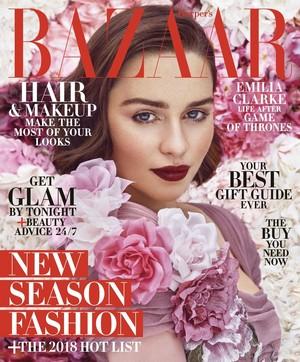 Emilia Clarke at Harper's Bazaar Cover