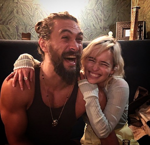 Emilia and Jason Momoa