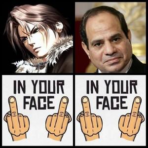 FUCK U Squall Leonhart FUCK U ELSISI EGYPT PEOPLE HATE U