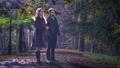 Felicity and Oliver Outdoors Park at Night - emily-bett-rickards fan art
