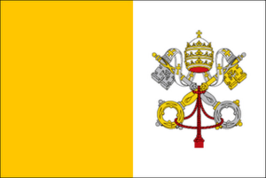 Flag Of The Holy See (The Vatican City)