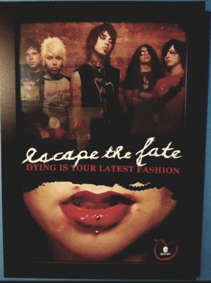 Framed Escape The Fate Original Poster