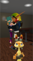 Get A Room You Two. Geez   Daxter  Jak and Keira Kiss - jak-and-daxter photo