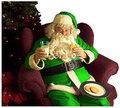 Green Santa - christmas photo
