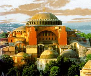 Hagia Sophia In Constantinople - The Original নকশা (Exterior)