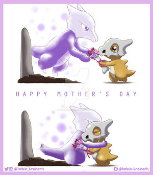 Happy Mother's 日 - Cubone and Marowak