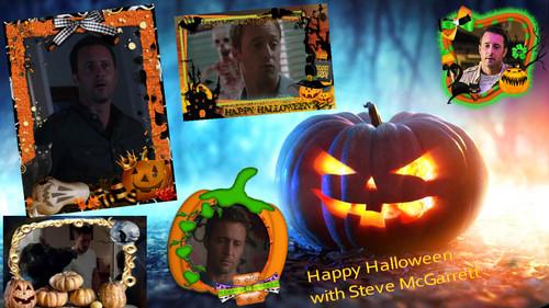 Televisyen kertas dinding entitled Hawaii Five 0: Halloween with Stevie
