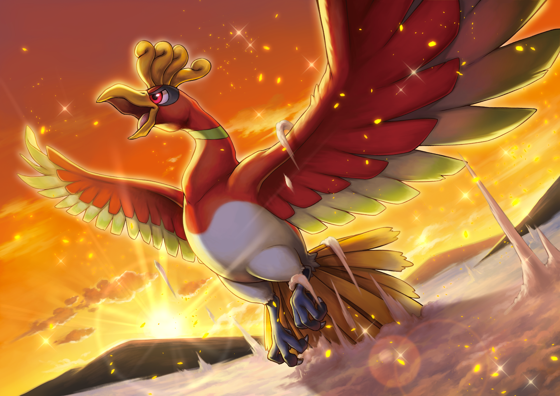 Ho-Oh, The arco iris Pokemon