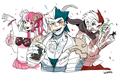 Human Monophanie, Monokid and Monotaro  - dangan-ronpa photo