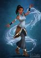 Tiana as Korra from The legend of Korra - disney fan art