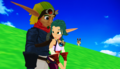 Jak walking with Keira Hagai - jak-and-daxter photo