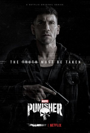 Jon Bernthal as Frank castelo on a poster for The Punisher