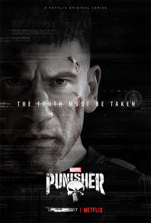 Jon Bernthal as Frank kastil, castle on a poster for The Punisher