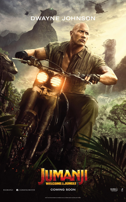 Jumanji: Welcome to the Jungle (2017) Poster - Dwayne Johnson as Dr. Smolder Bravestone