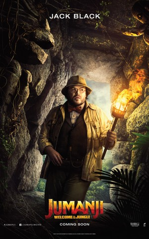 Jumanji: Welcome to the Jungle (2017) Poster - Jack Black as Professor Shelly Oberon