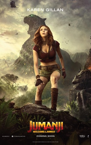 Jumanji: Welcome to the Jungle (2017) Poster - Karen Gillan as Ruby Roundhouse