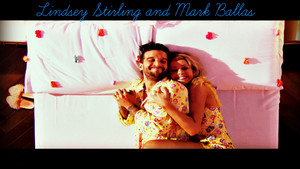Lindsey Stirling and Mark Ballas hình nền