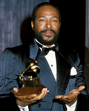 Marvin Backstage At The 1983 Grammy Awards