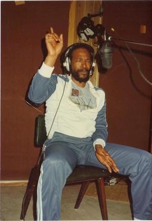Marvin In The Recording Studio