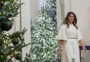 Melania Welcomes Children to White House - November 27, 2017