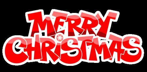 Krismas kertas dinding titled Merry Krismas (Logo)