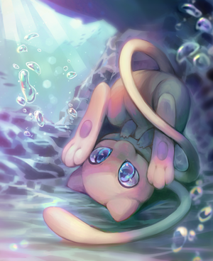 Mew Playing Underwater