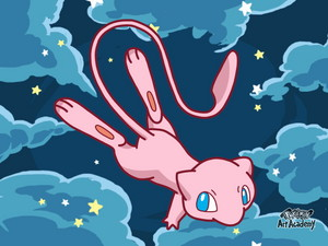 Mew Pokemon achtergrond