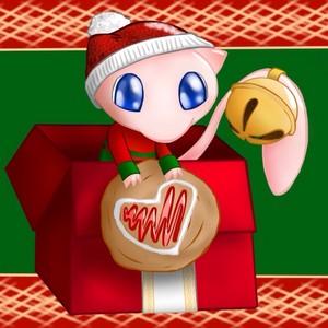 Mew in a Weihnachten Present