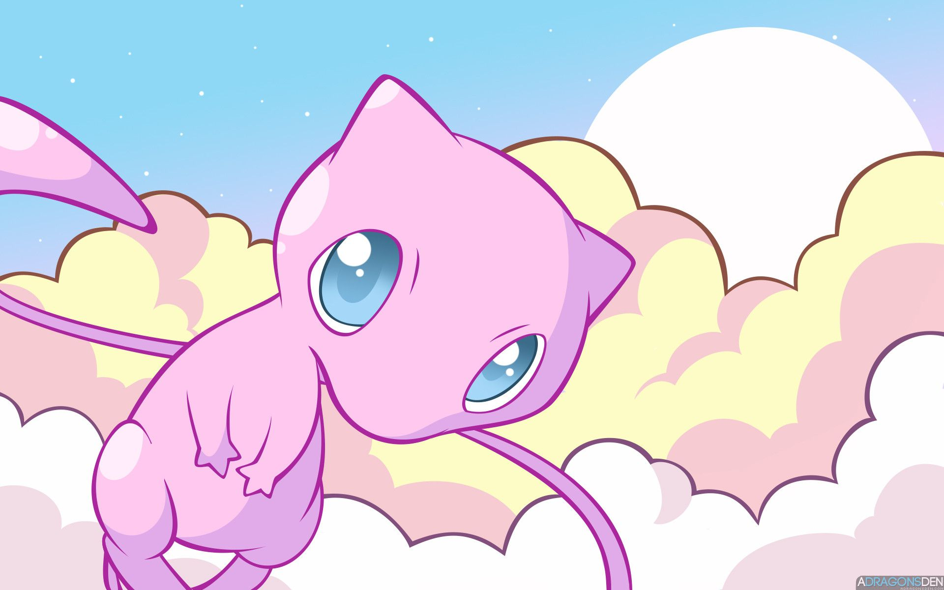 Mew The Pokemon Images In Clouds HD Wallpaper And Background Photos