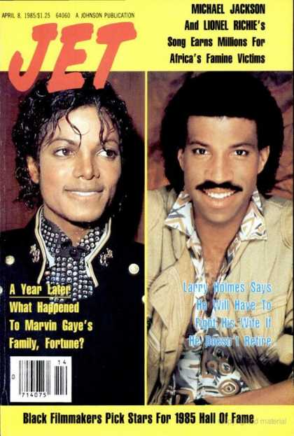 Michael And Lionel Richie On The Cover Of Jet