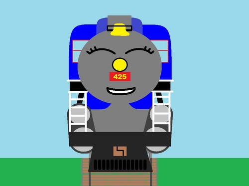Thomas the Tank Engine wallpaper entitled Mily drawing