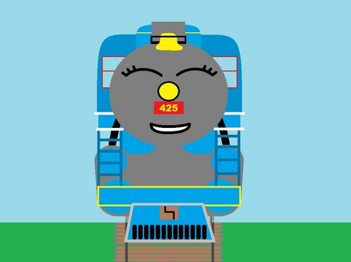 Thomas the Tank Engine achtergrond called Mily drawing2