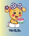 Miss La Sen holding cake