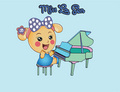 Miss La Sen playing piano