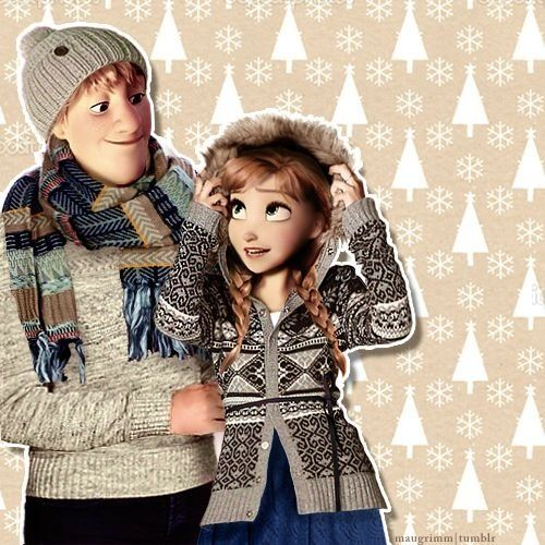 Modern Disney Princess wallpaper called Modern Anna and Kristoff