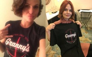 Morrilla with Granny's makan, kantin T-shirt