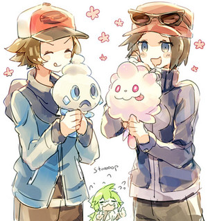 N Protests Against Hilbert and Calem eating Pokemon