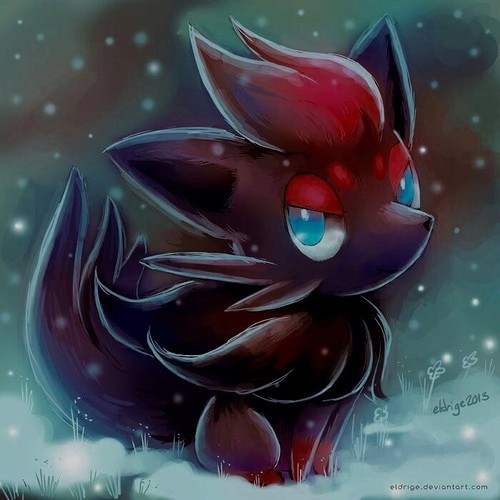 N(pokemon) wallpaper entitled N's Little Zorua
