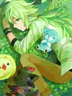 N with Cute Pokemon