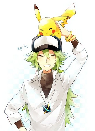 N(pokemon) wallpaper called N with a pikachu