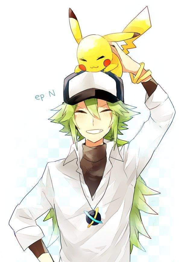 N with a pikachu