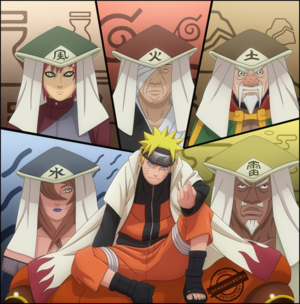 naruto with the 5 kages