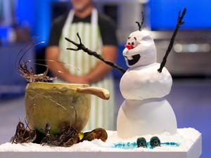 Olaf at Crawfish Boil