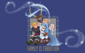 Olaf's Frozen Adventure kertas dinding