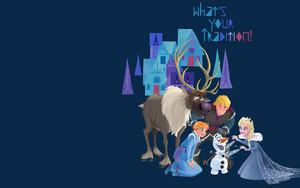 Olaf's La Reine des Neiges Adventure fond d'écran